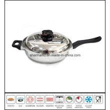 Stainless Steel Fry Pan Gourmet Skillet