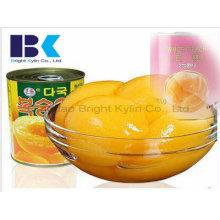 Der ursprüngliche gelbe Pfirsich in Sirup