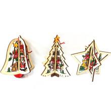 produtos de madeira feitos à mão árvore de madeira decorativa para o natal