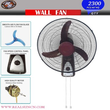 Novo modelo de ventilador de parede de 18 polegadas com duas linhas de tração