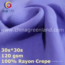 Ткань для искусственного шелка Rayon для одежды из шифоновой блузки (GLLML437)