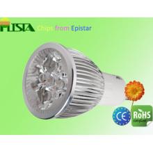 4W Ultra lumineux GU10 Spot LED lumière plat avec CE RoHS approuvée