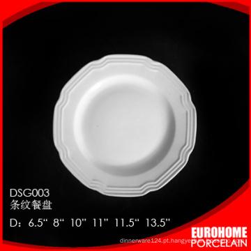 casamento por atacado porcelana branca elegante serve pratos