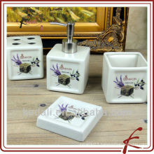 Best Price Ceramic Porcelain Bath set Bathroom Accessory Set 2015