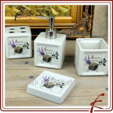 Best Price Ceramic Porcelain Bath set Bathroom Accessory Set 2015