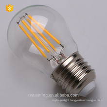 Zero UV emission G45 Filament led lamp soft white 3000K