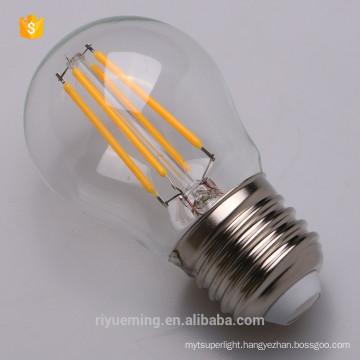 Zero UV emission G45 Filament led lamp soft white 3000K