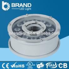 316 en acier inoxydable IP68 12W DMX RGB LED Fountain Light, CE RoHS