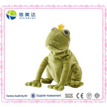 The Frog Prince Plush Toy Jouet de grenouille verte souple
