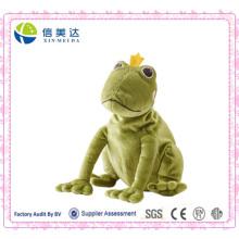 Игрушка мягкой зеленой лягушки лягушки принцессы Плюша