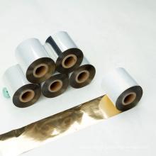 Hot sale heat transfer Fita de impressão de transferência térmica de ouro brilhante compatível