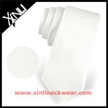 Cravate parfaite de sublimation de soie de noir de col de noeud de satin de noir blanc