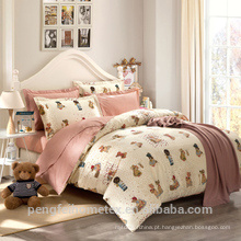 Maravilhoso tecido de poliéster escovado para folha de cama com boa qualidade à venda
