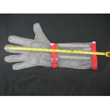 Luva protetora anti-corte de malha de malha de manga comprida