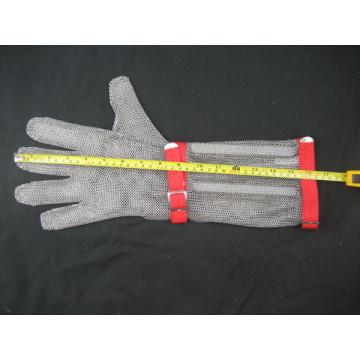 Gant anti-coupure à mailles à manches longues
