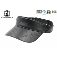 Fashion PU Leather Laser DOT Sports Visor / Sun Visor Cap