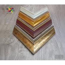 Moldagem de poliestireno de cor dourada para moldura de espelho de moldura de foto