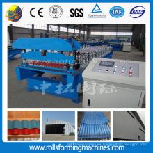 Panel de techo de acero coloreado corrugado rollo formando la máquina