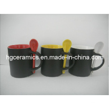 Color Change Mug with Spoon, Spoon Color Change Mug