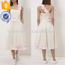 New Fashion Off White Midi Dress With Frills Manufacture Wholesale Fashion Women Apparel (TA5237D)