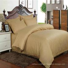 Juego de sábanas de sábanas de algodón satinado Hotel 40s en existencia (DPF1060)