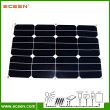 Hot selling 30W semi flexible sunpower solar panel for RV marine European