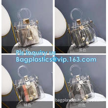 handbag online pvc handbag for women, PVC tote handbag with a small purse, Thick PVC Women Unique Handbags