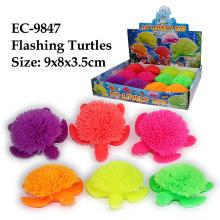 Divertido juguete tortuga parpadeante