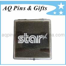 Caja de monedas de plástico con logotipo impreso