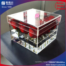 China Manufacturer Supply Acrylic Flower Packaging Box Design