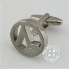 Hollow Silver Round Cufflinks, Metal Cufflink (GZHY-XK-084)