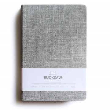 GREY CLOTH COVER NOTEBOOK 1-0