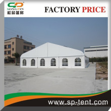 25x50m big aluminum tennis curved tent in aluminium structure with clear roof cover and sidewall
