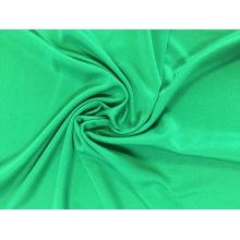 Moda 100% poliéster tingido liso tecido interlock de malha