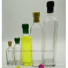 Bouteilles à bouteilles d'huile d'olive carrées à la vente chaude