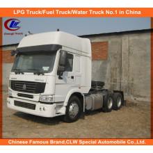 Sinotruk HOWO 6X4 Movimentação de mão esquerda 371HP Prime Mover, caminhão de trator pesado