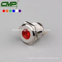 16mm CMP waterproof copper plating anti-vandal led signal lamp ip67(passed SGS,CE,TUV,RoHS)