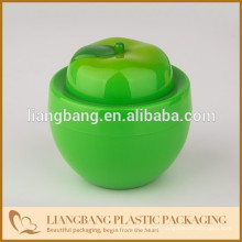 Green apple with Plastic jar
