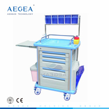 AG-AT001A1 Anesthesia box storage plastic material hospital emergency cart trolley