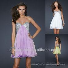Chic A Line Mini Sequin Robe de soirée courte robe de graduation
