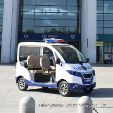 High Quality 4 Persons Electric Closed Style Street Laminated Glass Small Police Patrol Car with Ce