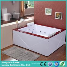 Banheira de madeira de 2 pessoas de banho de água (TLP-666-saia acrílica)