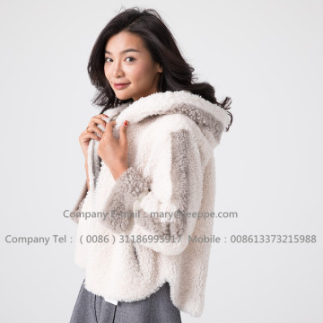 Winter Short Merino Shearling Lady Jacket