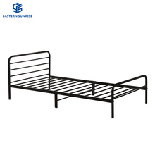 Free Custom Home Furniture Double Size Single Layer Metal Bed Frame