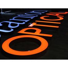 LED al aire libre iluminado signos de letras para negocios y al aire libre
