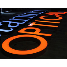 Sinais de LED iluminados ao ar livre para negócios e exterior