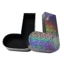 Caixa de empacotamento impressa da peúga da forma do pé do papel de varejo