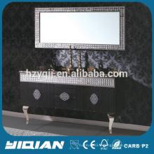 Cabinet en acier inoxydable de Vanity d'Europe Meubles de salle de bains populaires