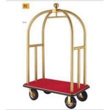 De Buena Calidad Luxury Bellmans Trolley de latón cepillado (DF52)