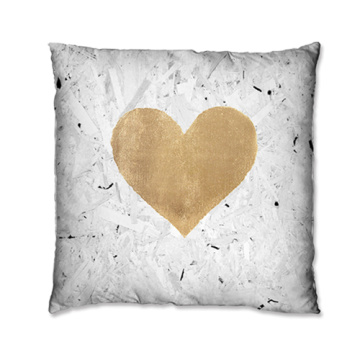Unique heart-shaped pattern cushions
